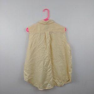 Vintage 90s linen Eddie Bauer sleeveless shirt